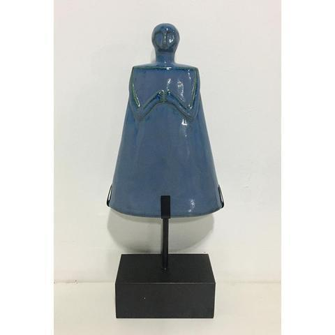 Ceramic Blue Figure - Unique Wood