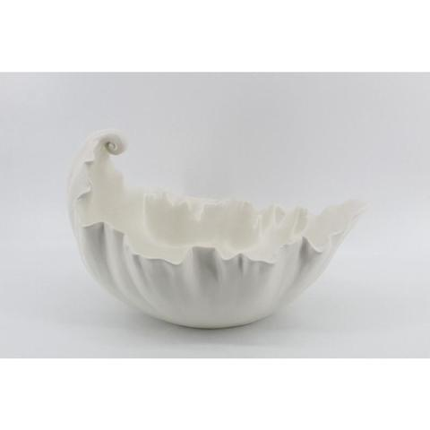 Dolomite Leaf Bowl White - Unique Wood