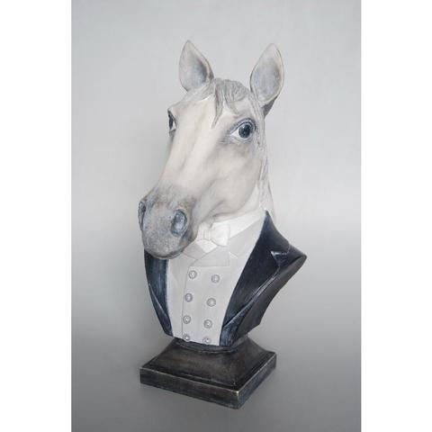 Resin Horse Bust - Unique Wood