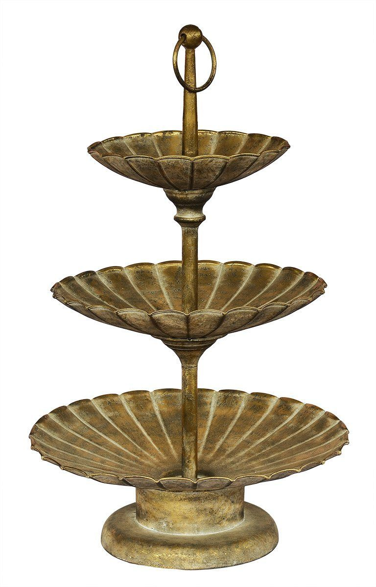 Metal gold cake stand