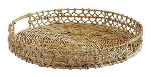 River tray round natural