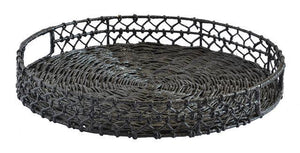 River tray round black