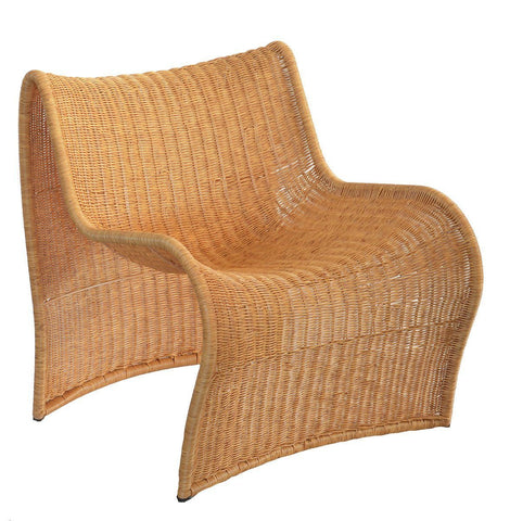 Full curve chair synthetic natural unique wood lifestyle