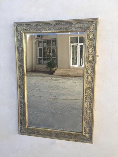 GOLD METAL FRAME MIRROR 100X68CM - Unique Wood