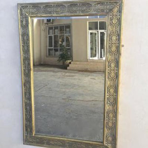 Gold metal frame mirror 100X68CM