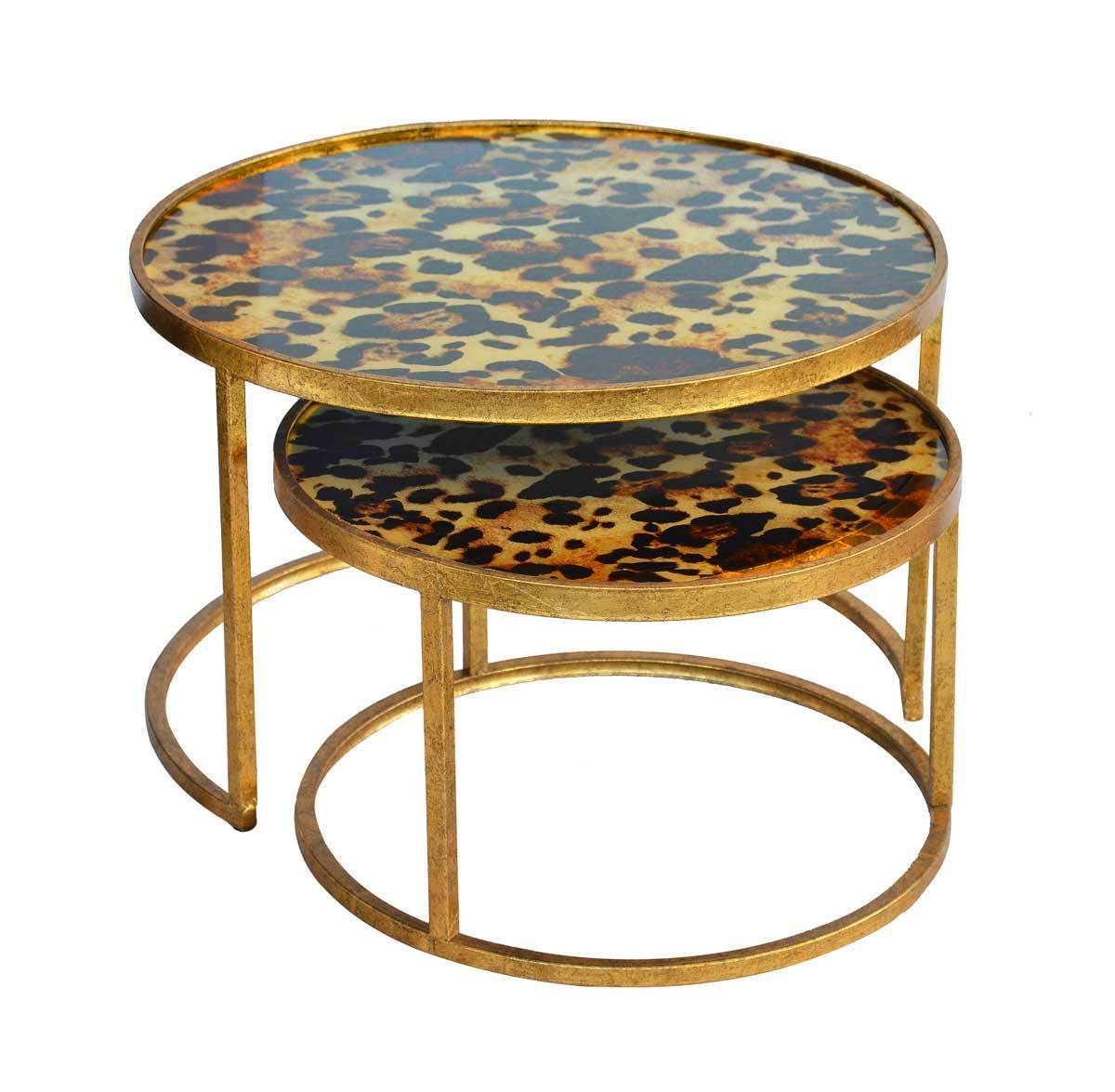 Glass nesting leopard set of 2 uniquewood lifestyle