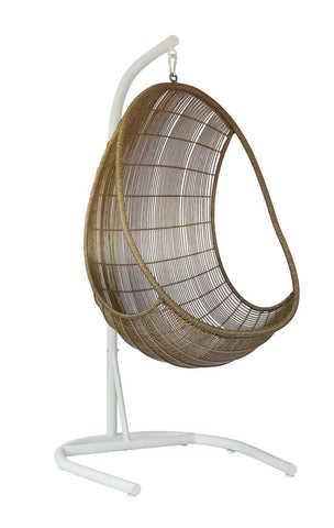 Hanging pod chair Natural unique wood lifestyle