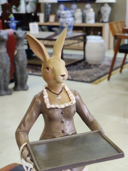 Resin Bunny Waitress