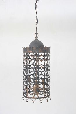 Moroccan black & gold hanging electric light 80X32CM unique wood lifestyle