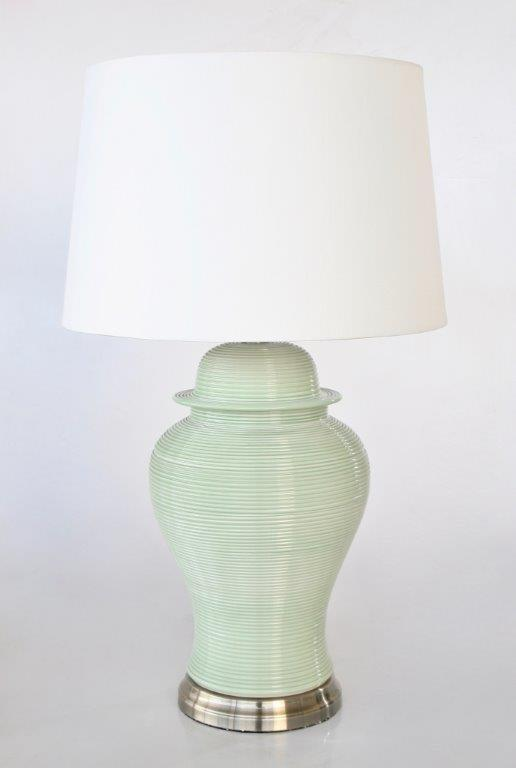 Pale green lamp - Unique Wood