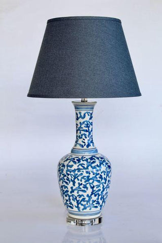 Blue and white coral lamp 76.5CM