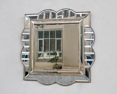 SQUARE SHAPED BORDER MIRROR 60X60 - Unique Wood