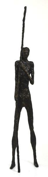 man sculpture cast iron 9 X 7 X 50cm