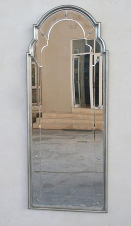 TALL SILVER FRAME SHAPED TOP 173X68 - Unique Wood