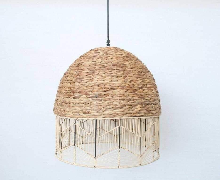 Woven Hang Lamp - Unique Wood