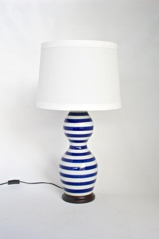 Stripe lamp blue - Unique Wood