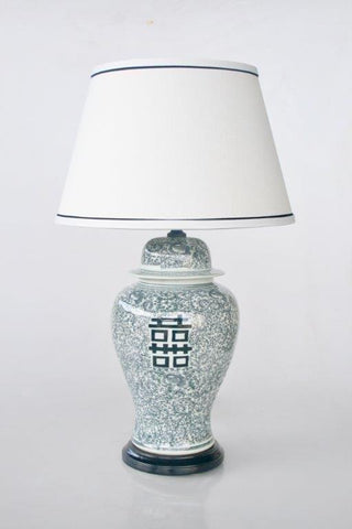 Black Chinese lamp - Unique Wood