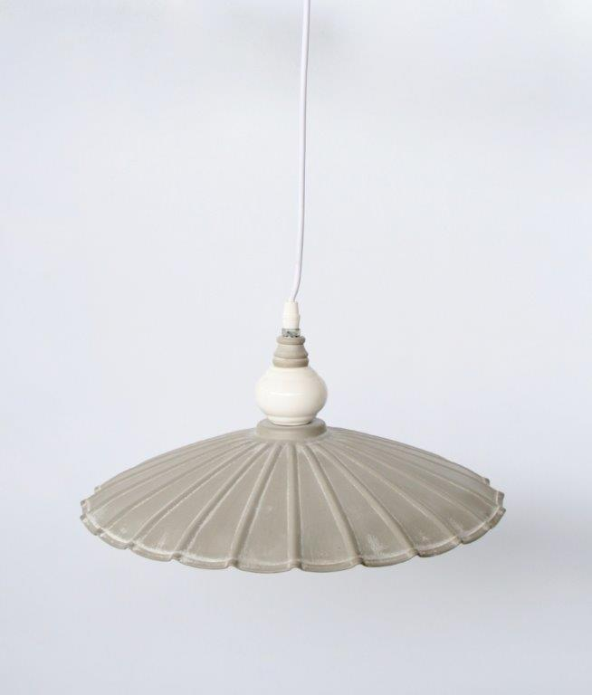 Metal lamp hanging grey - Unique Wood