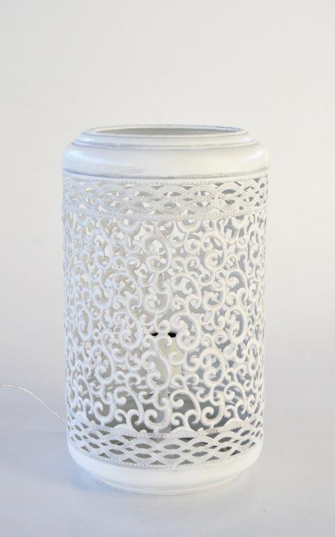 White C/O lantern - Unique Wood