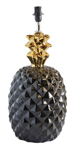 Lamp pinepple black gold