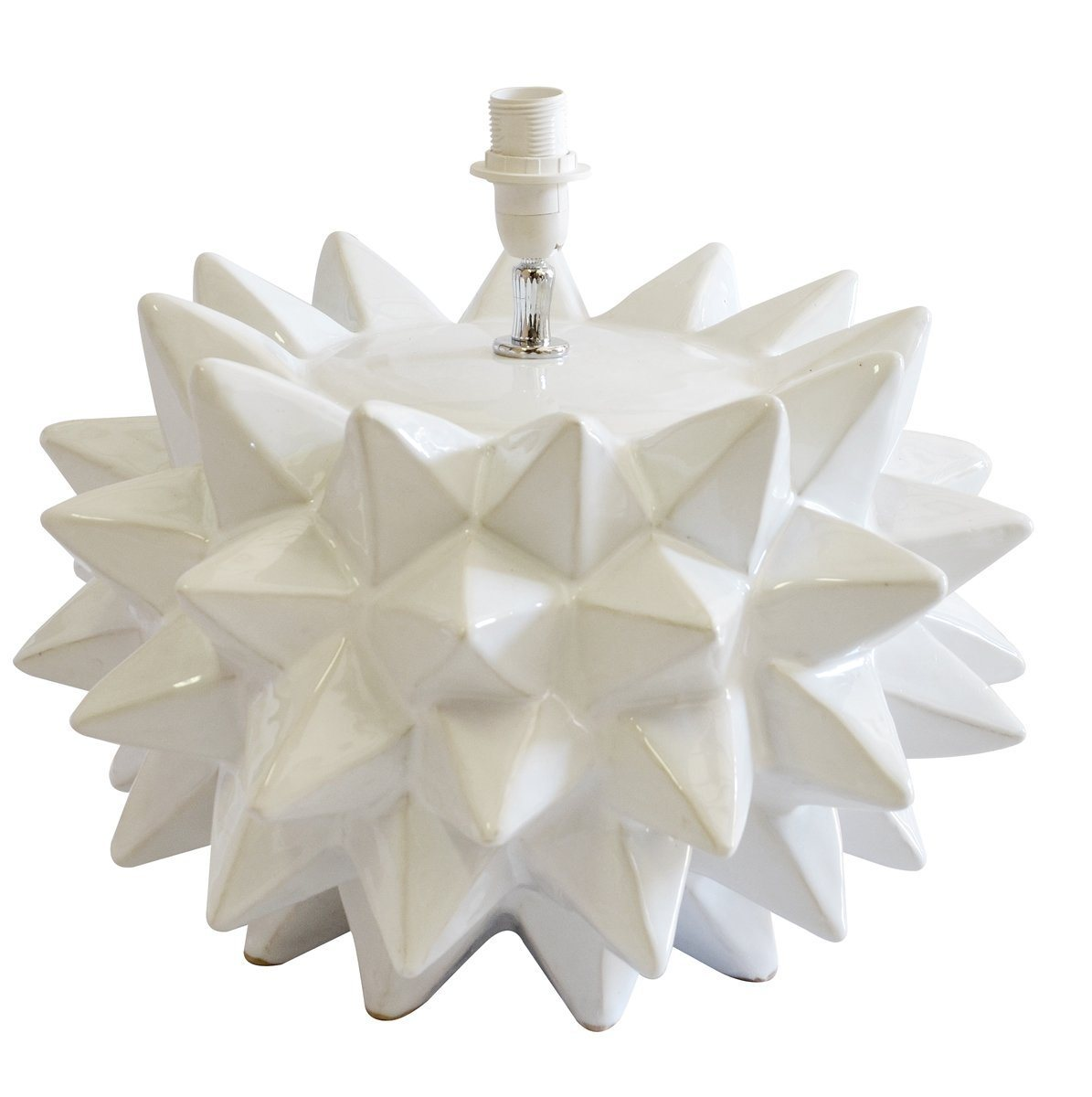 spiked lamp white large