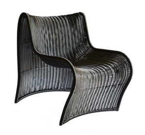 FULL CURVE CHAIR SYNTHETIC BLACK unique wood