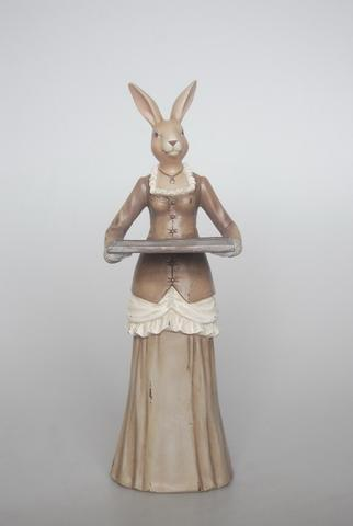 Resin Bunny Waitress - Unique Wood
