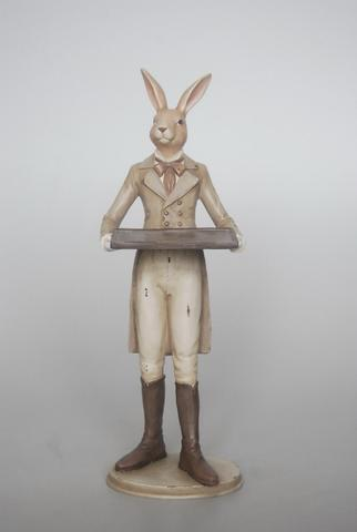 Resin Bunny Waiter - Unique Wood