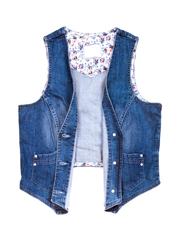 Women's Sleeveless Denim Jacket Vest | Hana Jeans Wholesale