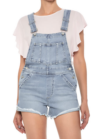Women's Denim Short Romper Overall | Hana Jeans Wholesale