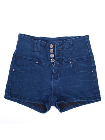 Women's High Rise Blue Denim Short | Hana Jeans Wholesale