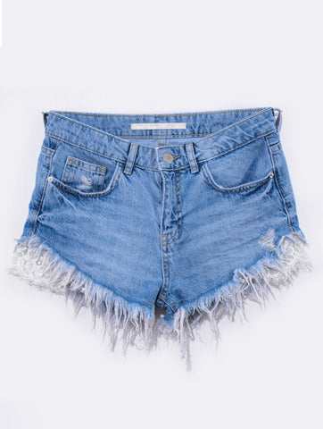 Women's Frayed Raw Hem Denim Shorts | Hana Jeans Wholesale