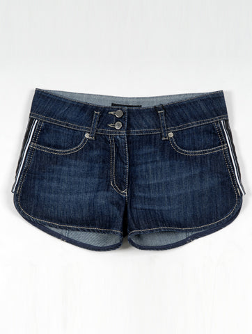 Classic Dark Denim Low Waist Short Zip Fly | Hana Jeans Wholesale
