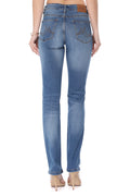 MikuRi 04 Women's High-Rise Light Distressed Skinny Fit Denim Jeans