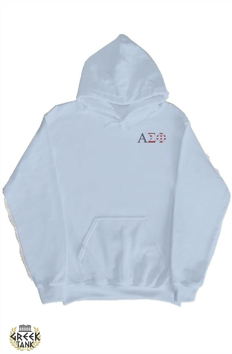 Alpha Sig Hoodie Mom's Weekend Light Blue