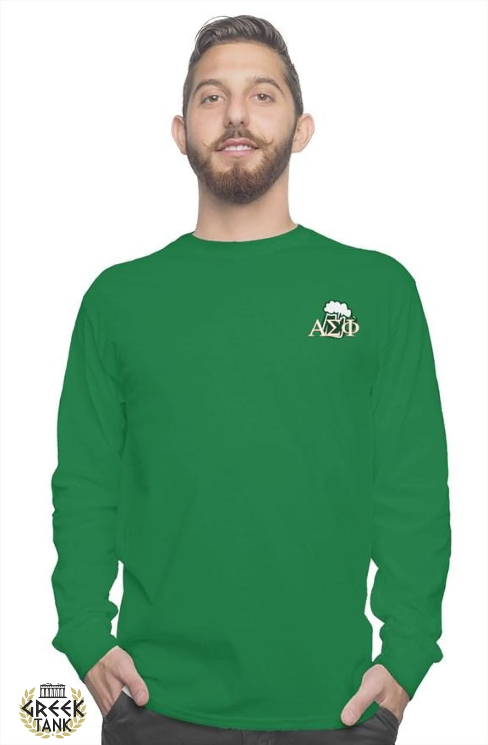 Alpha Sig Long Sleeve St. Patty's Face