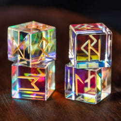 URWizards Engraved Prism Glass Rune dice D6 Viking - Urwizards