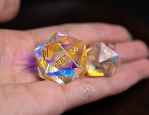 URWizards Dnd Engraved Giant 30mm D20 Engraved YEET & F*CK - Urwizards
