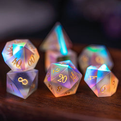 URWizards Dnd Frosted Dichroic Prism Glass Dice Set - Urwizards
