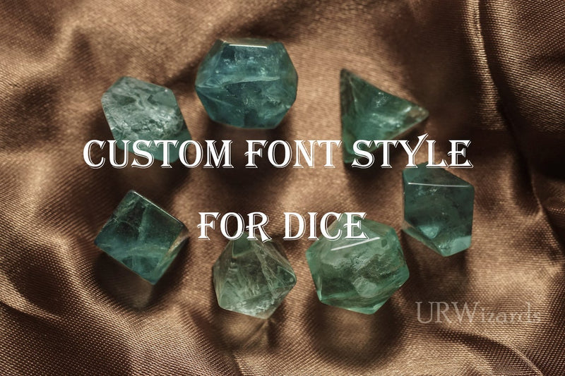 URWizards Custom font style for dice, Custom initial on Dice, Dnd Natural Gemstone Dice MTG Game - Urwizards