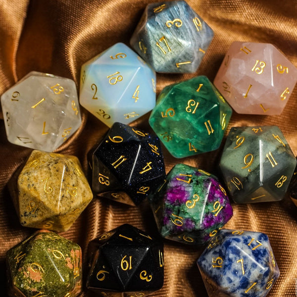 URWizards Dnd Engraved Gemstone D20 Dice - Urwizards