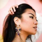 Ciara Acetate Geo Earrings