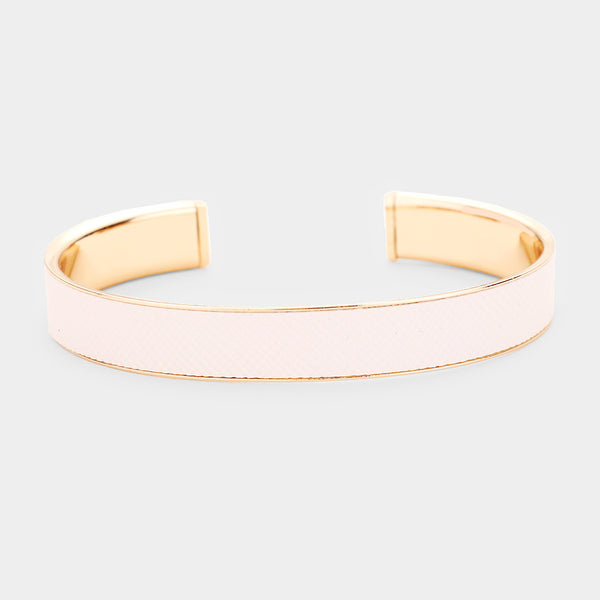 Sabra Faux Leather Bracelet