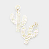 Cactus Seed Bead Earrings