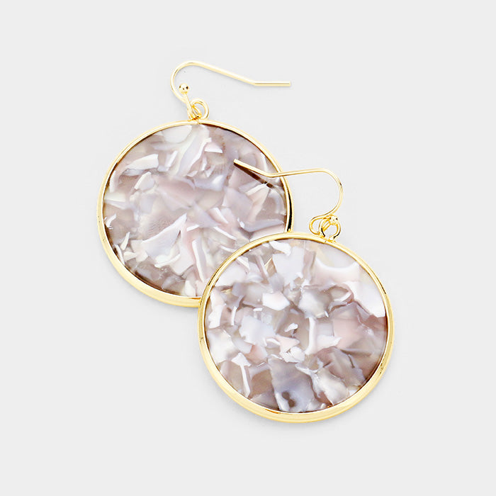 Gina Gold Trim Acetate Earrings
