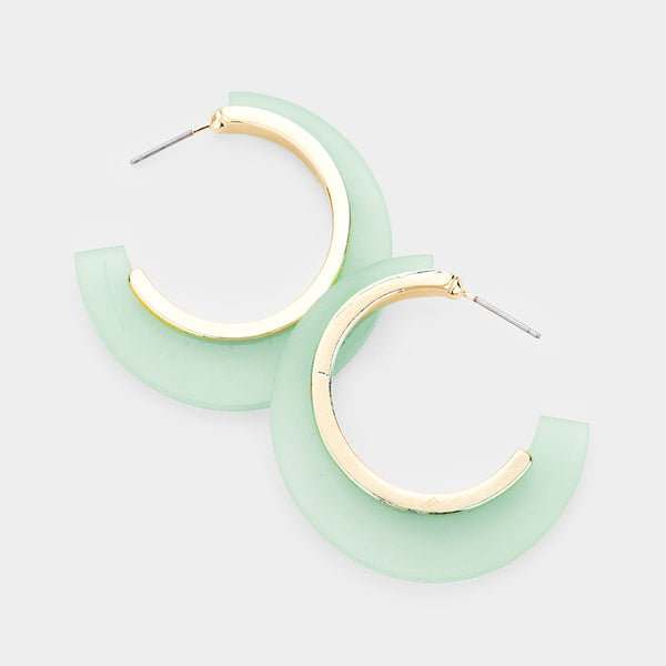 Leal Geo Hoop Earrings