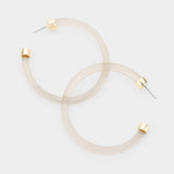 Lucite Open Hoop Earrings
