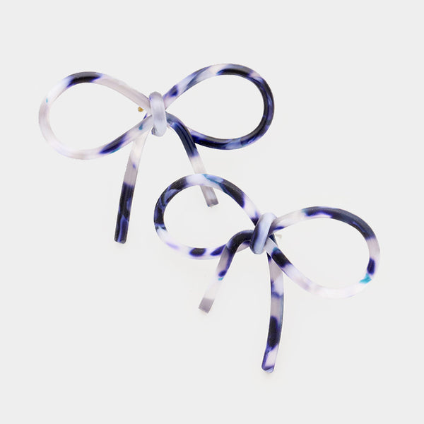 Acetate Bow Earrings