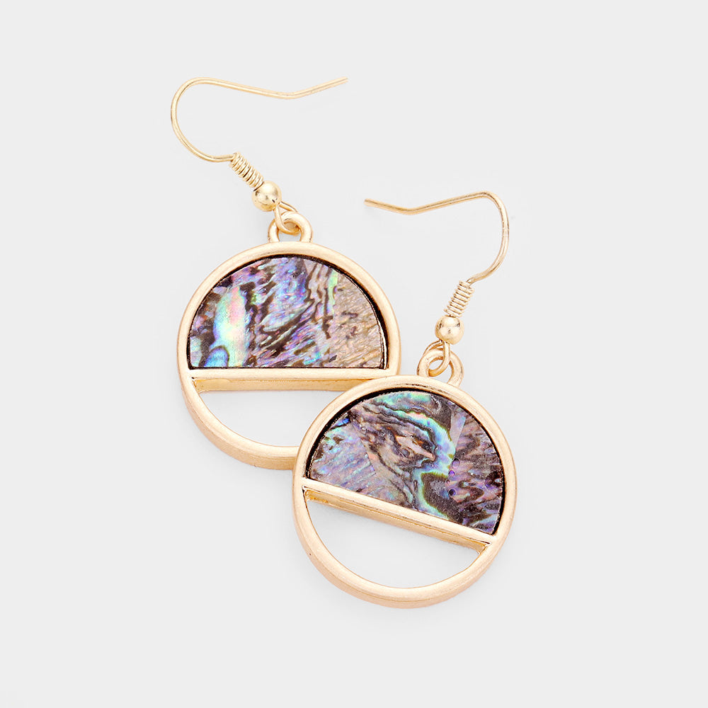 Ceci Circle Abalone Earrings