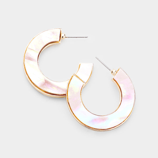 Sydney Shell Hoop Earrings